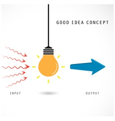 Creative light bulb concept design for poster vector
