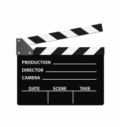 cinema clapboard vector image