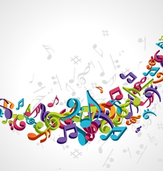 abstract music notes vector image