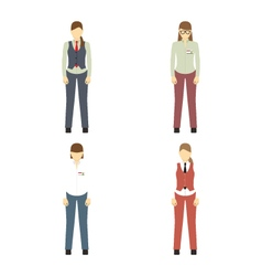 Female figures avatars business people icons vector