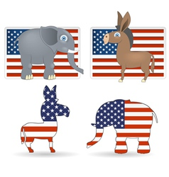 Democrat and republican symbols vector