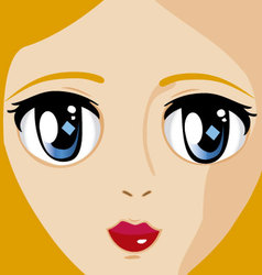 Manga face 2 vector