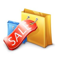Sale shopping bag vector