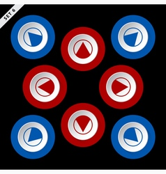 Red and blue arrows - eight directions vector