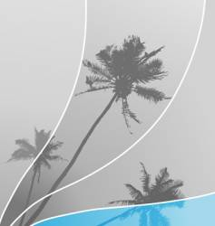 Illustration with palm trees vector