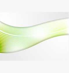 Abstract smooth green waves and lines pattern vector