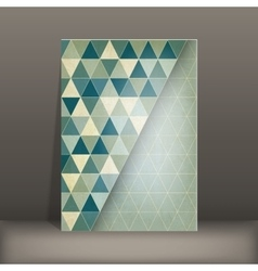 brochure flyer geometric template design vector image vector image