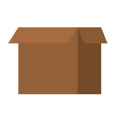 cardboard box open vector image