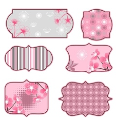 Cherry blossoms design elements labels and vector image vector image