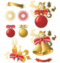 christmas collection vector image vector image