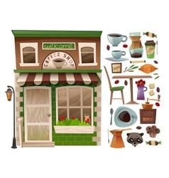 Coffee shop facade vector