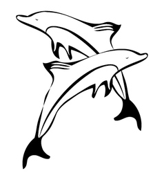 Dolphins silhouettes logo vector image vector image
