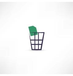 Dustbin icon vector