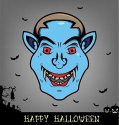 Halloween dracula head vector image vector image