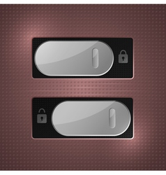 lock unlock switch vector image vector image