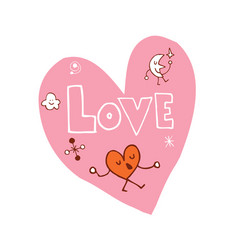 Love heart shaped design vector