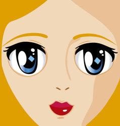 Manga face 2 vector