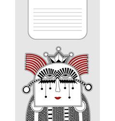 modern cute ornate doodle fantasy monster vector image