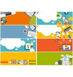 Modern Flat Design Banner Set for your Business vector image vector image