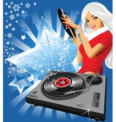 musical snowflake vector image