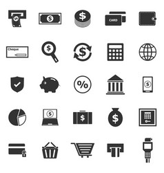 payment icons on white background vector image vector image