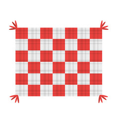 picnic blanket isolated vector image vector image