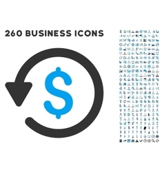 Rebate Icon with Flat Set vector image