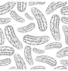 Seamless cucumber pattern vector