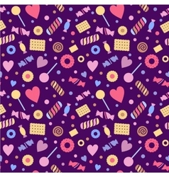 Seamless pattern with sweet confectionery vector image