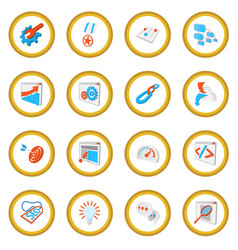 Seo 16 cartoon icon circle vector