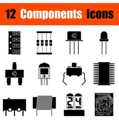 Set of electronic components icons vector image vector image