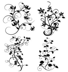 Set of flourishes vector