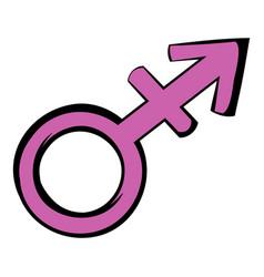 transgender sign icon icon cartoon vector image vector image