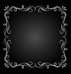 Vintage silver frame vector