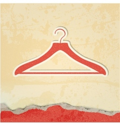 Clothes hanger retro poster vector