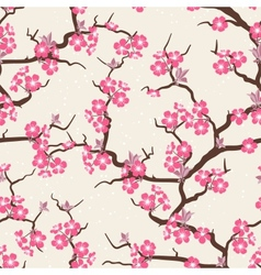 Cherry blossom seamless flowers pattern vector