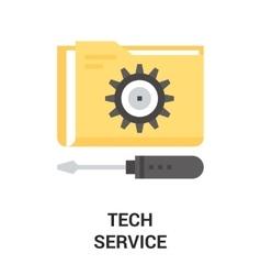 Tech service icon vector
