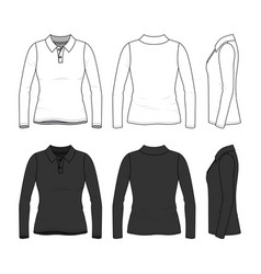 Set of female polo shirt vector