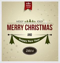 merry christmas card 2 vector image