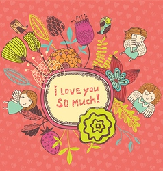 i love you so much vector image