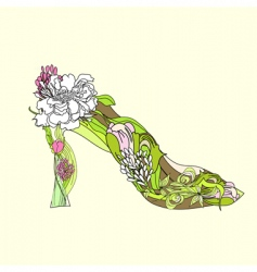 decorative shoes vector image
