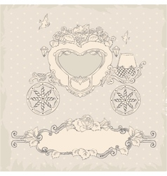 Coach template wedding invitation vector