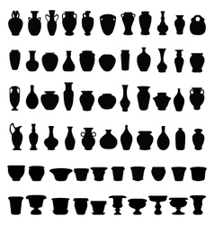 Pottery and vases vector