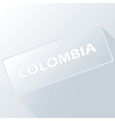 Colombia unique button vector