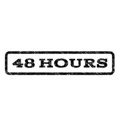 48 hours watermark stamp vector