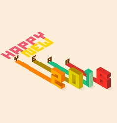 Happy new year 2016 isometric styler vector