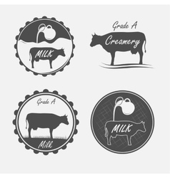 Set of milk vector