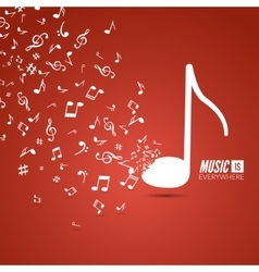 Abstract musical background with musical vector