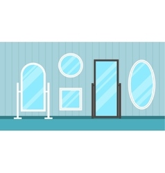 Set of flat mirrors vector image