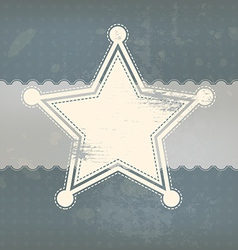 Star symbol with vintage background vector